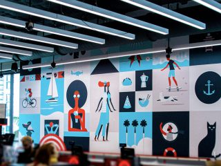Target Store Retail Design Wall Graphics: Miami