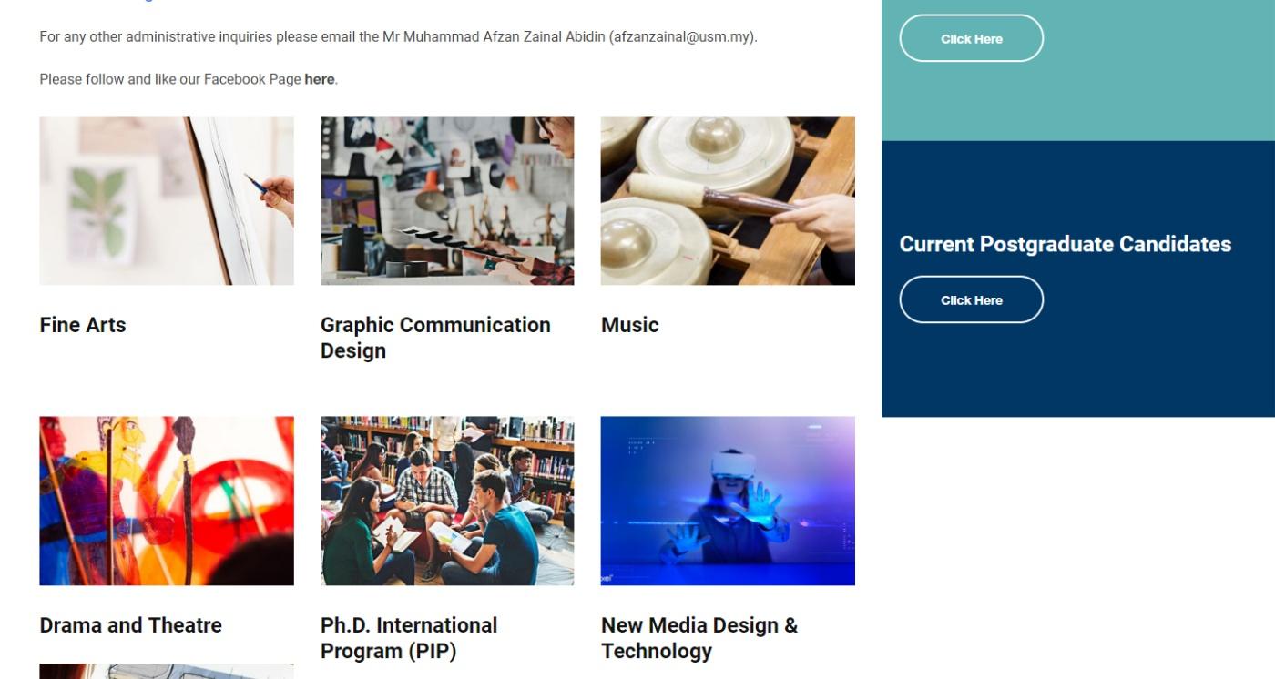 school of the arts website postgraduate